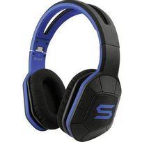 Soul - Casque sport circum-aural Combat+ micro-casque, pliable, volume réglable, résistant à la sueur bleu, noir