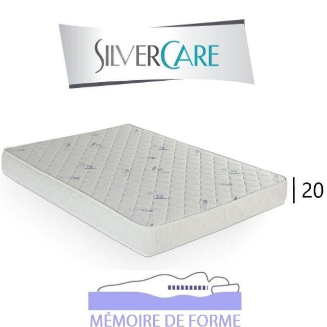 Inside 75 Matelas à mémoire de forme Tempo Silvercare épaisseur 20 cm dont 4 cm 50Kg/m3 pour canapé rapido 100 cm