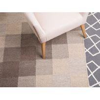 Beliani - Tapis rectangulaire - tapis en coton et laine - marron - 120x170 cm - Nizip