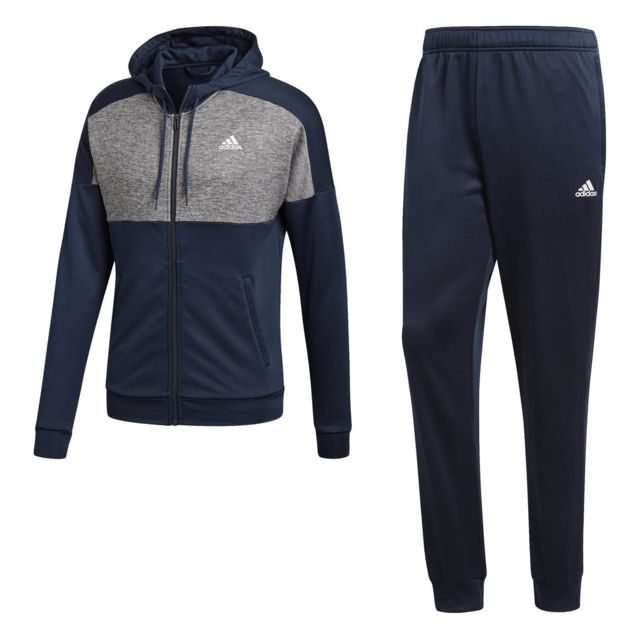 ed7148b73d5 Adidas - Survêtement Mts Gametime Bleu - pas cher Achat   Vente Survêtement  homme - RueDuCommerce