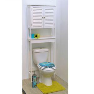 tendance meuble dessus wc 2 portes persiennes florence blanc pas cher achat vente colonne. Black Bedroom Furniture Sets. Home Design Ideas