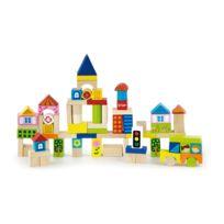 Milly Mally - Jeu de construction blocs en bois pour enfant 2ans+ La Ville 75 pièces | Multicolore