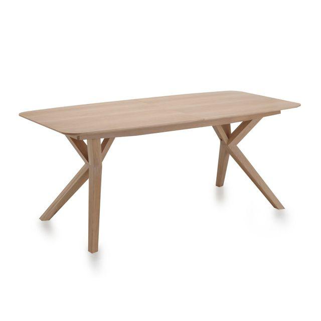 alin a l onie table extensible avec allonge papillon l 185cm 240cm 8 10 convives pas. Black Bedroom Furniture Sets. Home Design Ideas