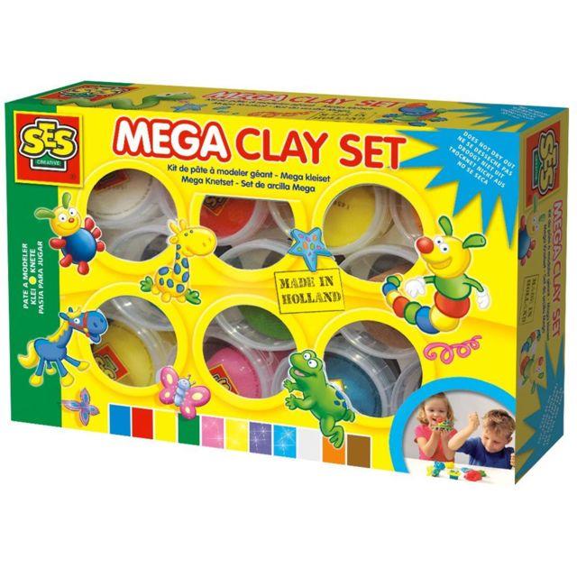 Ses Creative Pâte à modeler Mega : Set 11 couleurs