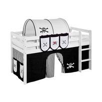 Lilokids - Accessoire Poches Pirate Noir Blanc - pour Lit surélevé évolutif, Lit surélevé ludique et Lits superposés