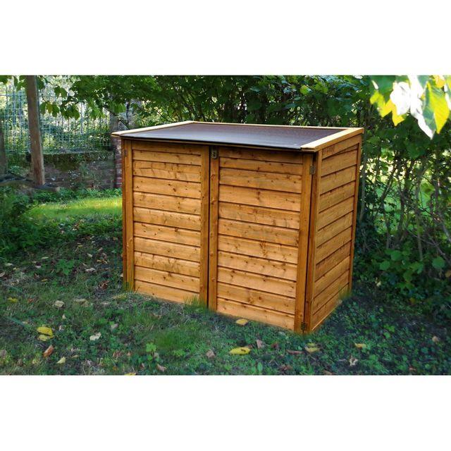 chalet jardin coffre bois trocadero max pas cher achat vente coffre de jardin. Black Bedroom Furniture Sets. Home Design Ideas