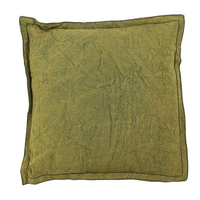 mon beau tapis coussin asia coton 45x45cm kaki vert 45cm x 45cm pas cher achat vente. Black Bedroom Furniture Sets. Home Design Ideas