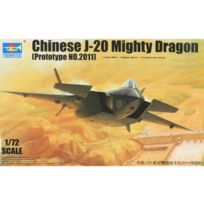 Trumpeter - Maquette avion : Chinese J-20 Mighty Dragon prototype n°2011
