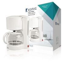 König - Machine à café 870 W 11 Tasses Blanc