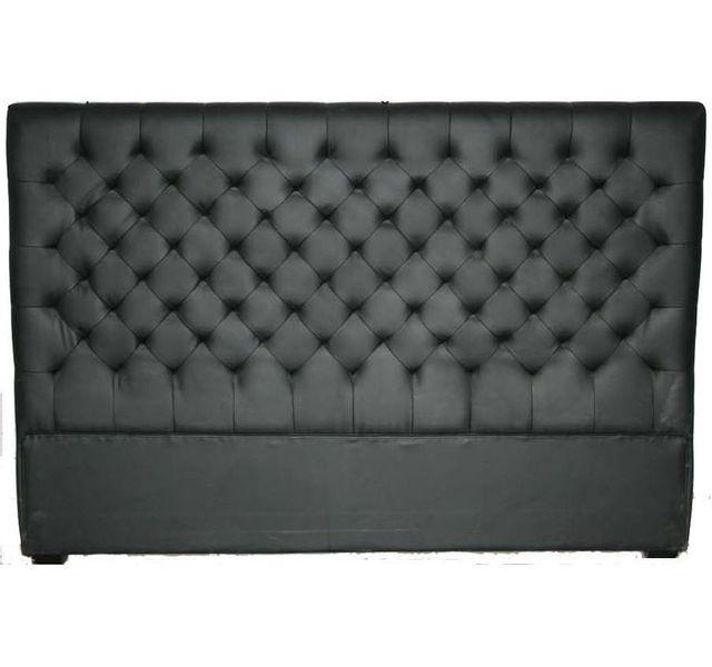 chloe design t te de lit capitonn e 160 cm noir pas cher achat vente t tes de lit. Black Bedroom Furniture Sets. Home Design Ideas