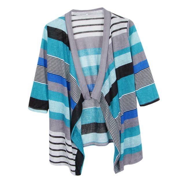 >Cardigan en tricot à manches Kimono à col châle