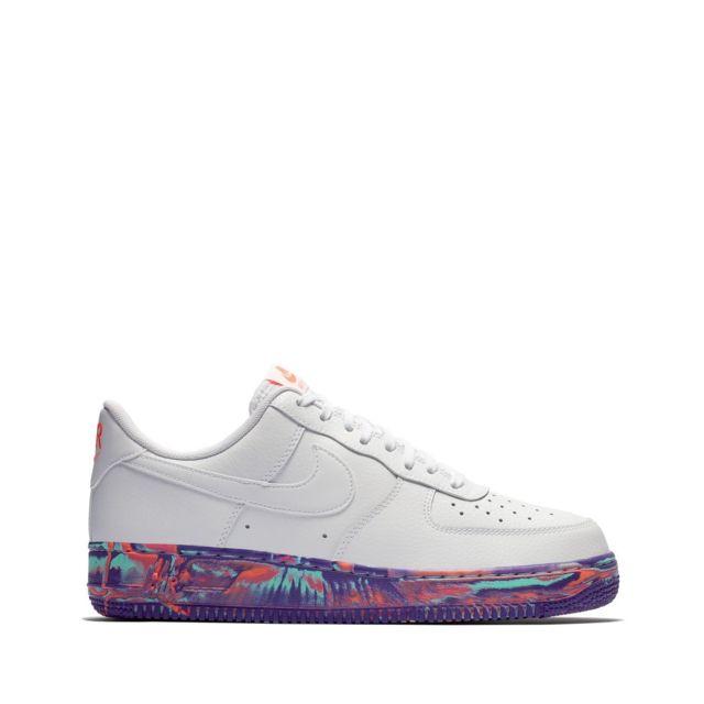 Nike Air Force 1 07 LV8 Blanche Noir Orange | 823511 104