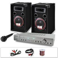 """ELECTRONIC STAR - Set DJ PA """"DJ-11"""" Ampli, enceintes, micro 1000W"""