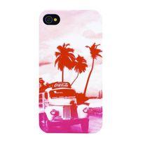 Coca-Cola - Coque pour iPhone 4 / 4S- Motif camion rose