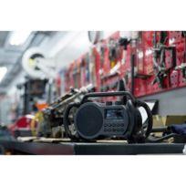 Audisse - Radio de chantier Netbox Usb, audio, stéréo jack 3.5 mm, étanche à l'eau, résistant aux coups