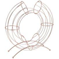 AUBRY GASPARD - Corbeille design métal cuivré pour oranges