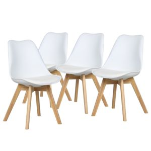 Bestmobilier malm lot de 4 chaises design scandinave for Modele de chaises design