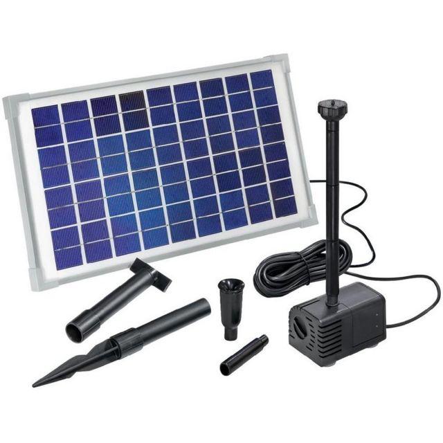 esotec kit pompe solaire bassin ou fontaine napoli pas cher achat vente fontaine de jardin. Black Bedroom Furniture Sets. Home Design Ideas
