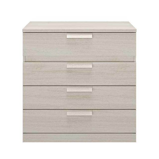 Tousmesmeubles Commode 4 tiroirs Frêne blanchi - Ilora