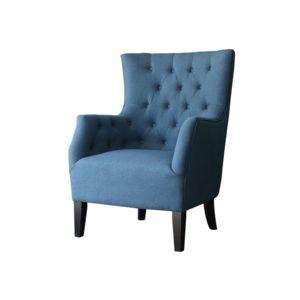 soldes habitat et jardin fauteuil scandinave tissu duchesse bleu roi nc pas cher achat. Black Bedroom Furniture Sets. Home Design Ideas
