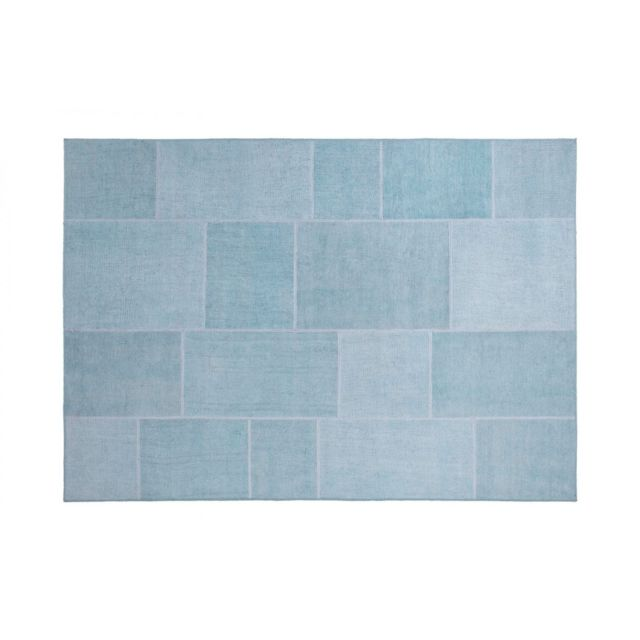 vivabita tapis effet patchwork plat bleu pastel moods pas cher achat vente tapis. Black Bedroom Furniture Sets. Home Design Ideas