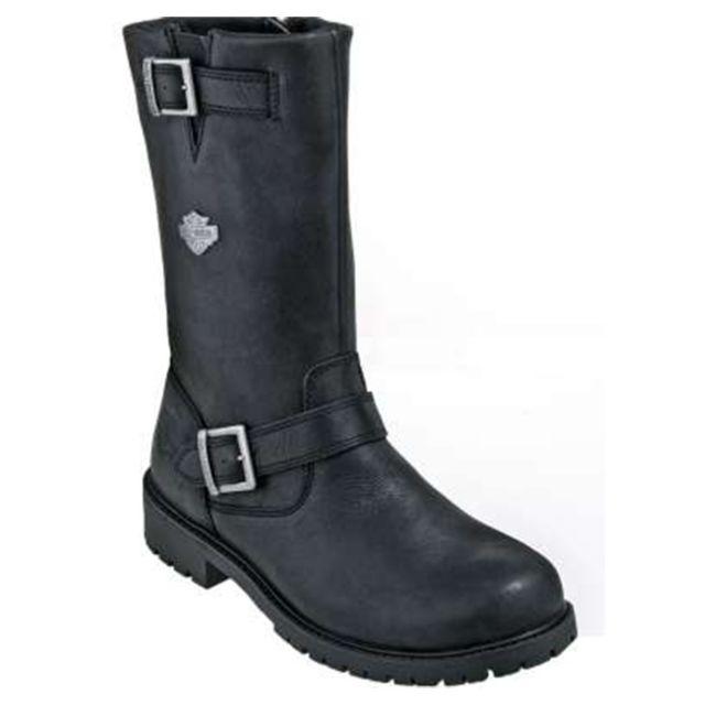 harley davidson bottes harley davidson randy en cuir noir pas cher achat vente boots homme. Black Bedroom Furniture Sets. Home Design Ideas