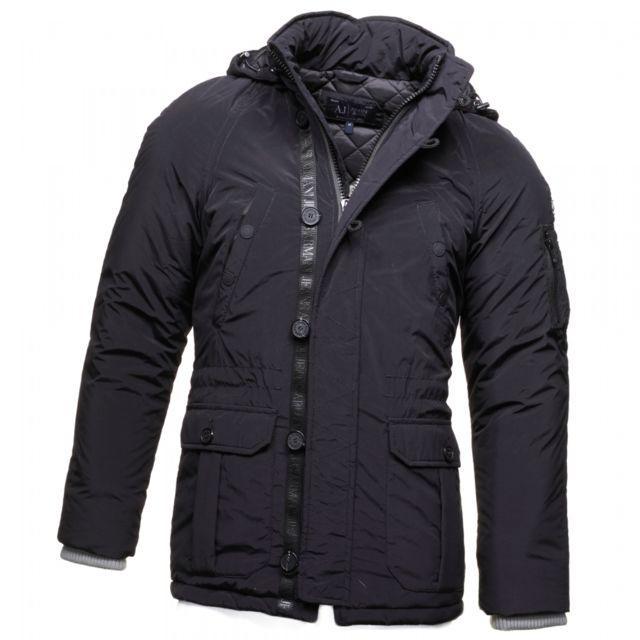 Armani - Blouson Jeans B6k71 Ax Black - pas cher Achat   Vente Blouson homme  - RueDuCommerce 65910adc57e