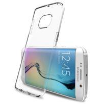 Caseink - Coque Housse Etui Samsung Galaxy S6 Edge G925 Crystal Ultra Clear Hd - Semi Rigide Souple Tpu Transparent Slim, Full Cover