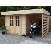 Dedans Dehors - Abri de jardin en bois avec bcher Langres