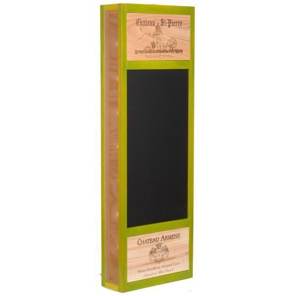 CavidÉCO Pierre Goujon Meuble de rangement en bois 8 bouteilles avec avec ardoise latérale - Vert anis - CavidÉCO Pierre Goujon - Aci-cvc103V