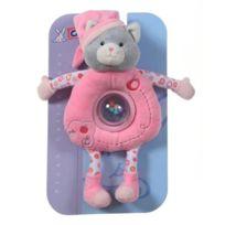 Gipsy - 070137 - Doudou - Doudou Boule Pomme - Chat - Fuchsia - 24 Cm