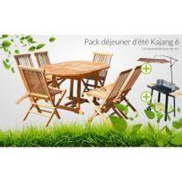 Table jardin avec parasol achat table jardin avec - Salon de jardin en bois rue du commerce ...