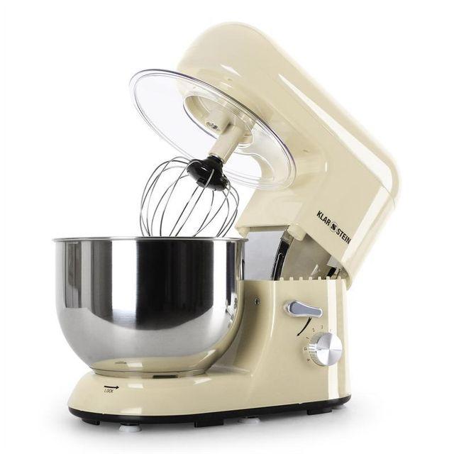 KLARSTEIN Bella Morena Robot de cuisine multifonction 1200W 5 litres -crème