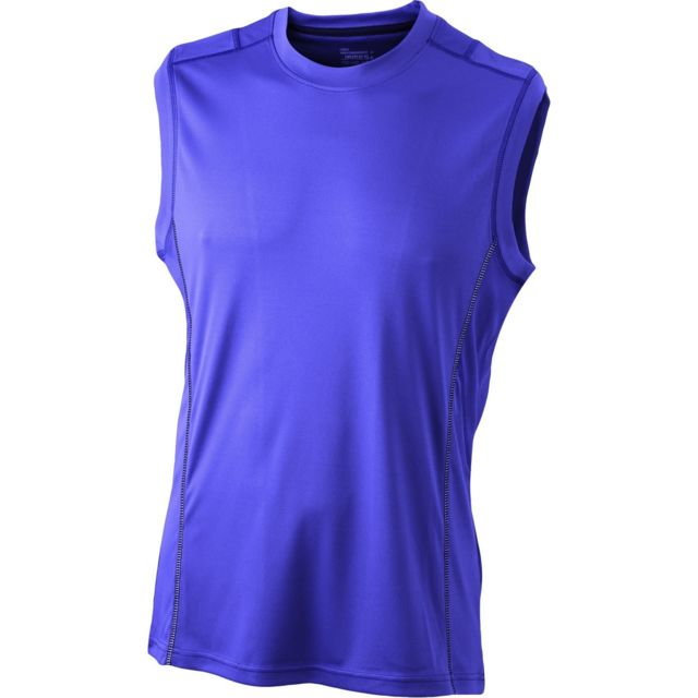 6a67da31c61da James   Nicholson - t-shirt débardeur respirant running Jn423 - violet -  Homme -