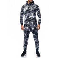 Violento - Survêtement stylé homme camouflage gris
