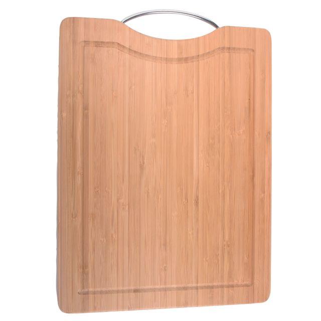 Secret De Gourmet Planche à découper en bambou avec poignée