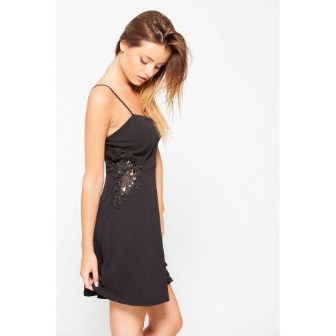 f85d0c12843 Princesse Boutique - Robe noire empiècements à dentelle - pas cher ...