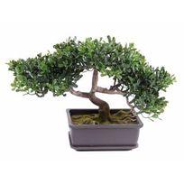 Artificielflower - Arbre artificiel Bonsaï Thé en coupe - plante synthétique intérieur extérieur - 22cm