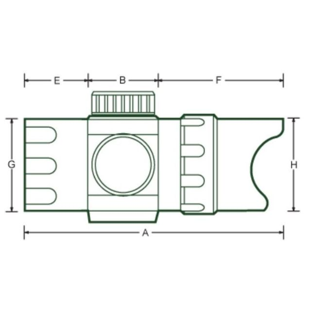 Réplique Holster de cuisse en polymère pour Glock 17/19 droitier