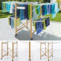 ProBache - Séchoir Deluxe design imitation bois étendoir extensible pliable