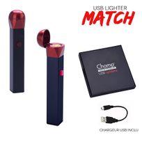 Champ - Briquet Usb alumette Match Igniter noir