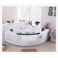 Design et Prix - Magnifique baignoire balnéo luxe chromothérapie + radio + contrôle digitale + ozonateur kool 2 personnes