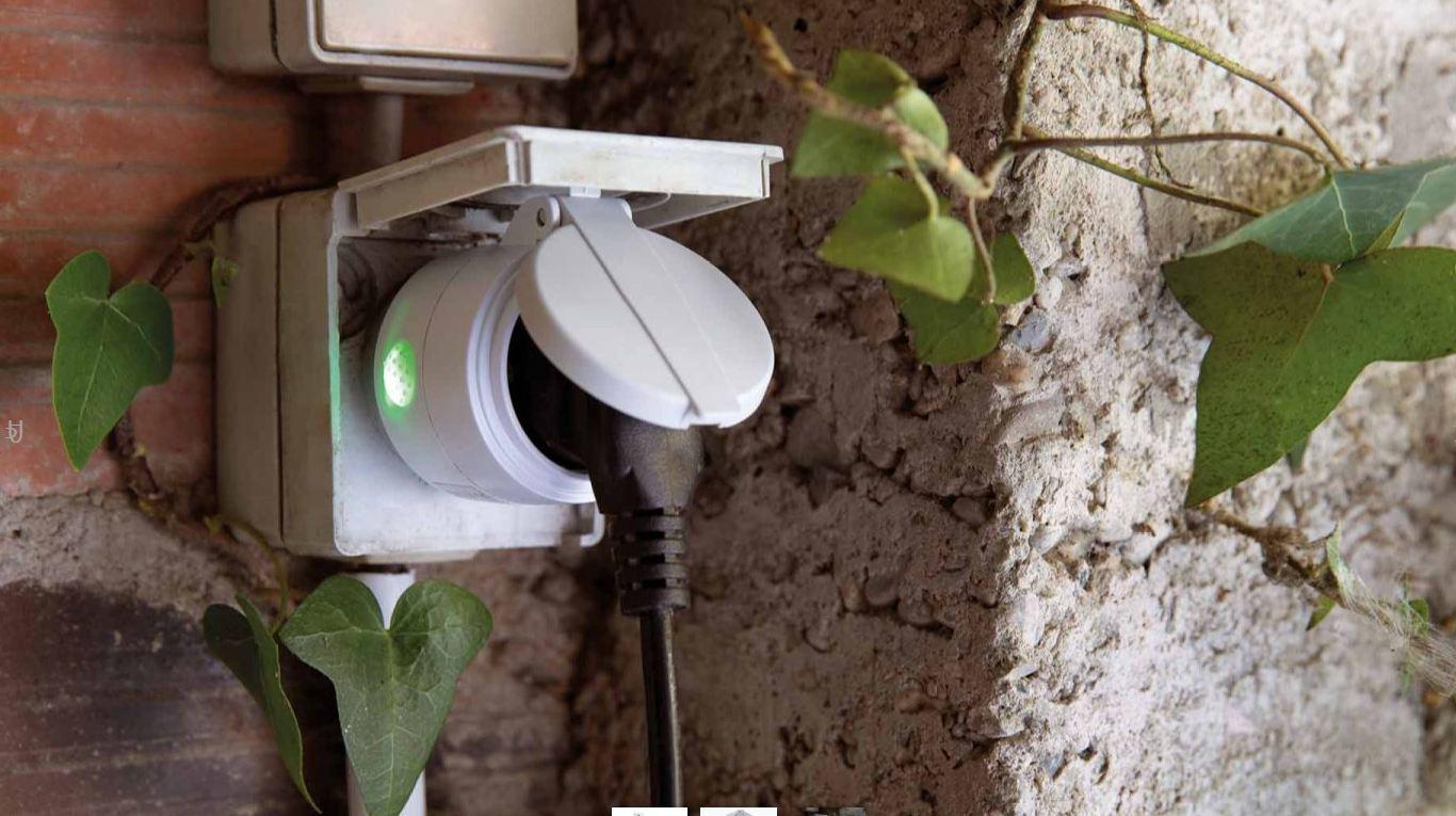 Pack prise connectée d'extérieur IP44 + télécommande
