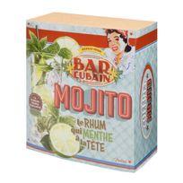 Natives - Coffret cocktail Mojito en verre + accessoires 19.8x9.6x21.3cm Bar Cubain