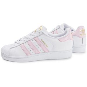 adidas superstar rose pale et blanc
