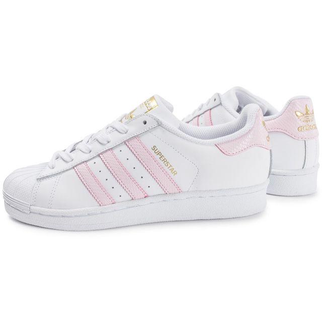 Adidas originals - Superstar Blanche Et Rose 38 - pas cher Achat / Vente Baskets femme - RueDuCommerce