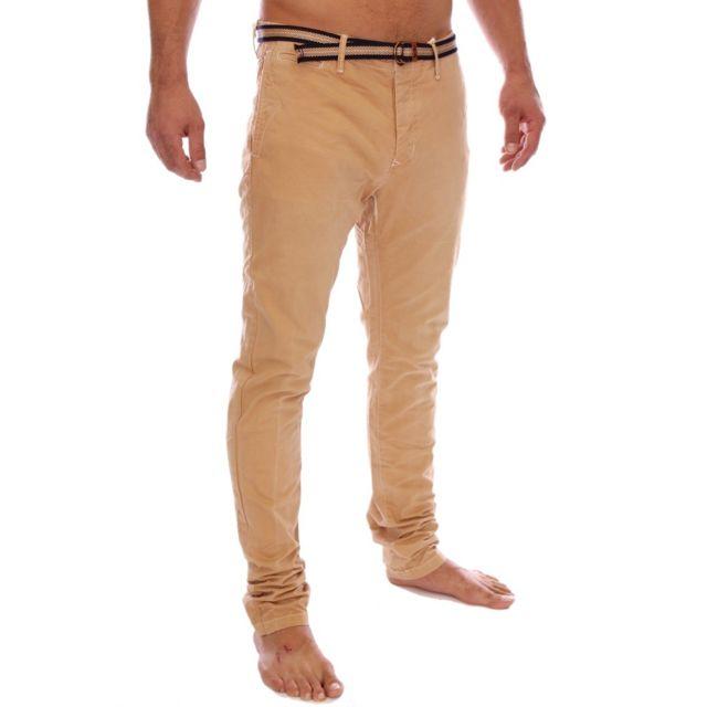 0f5d94cd64a0a Scotch   Soda - Scotch and Soda - Pantalon chino Warren slim fit beige 1401-
