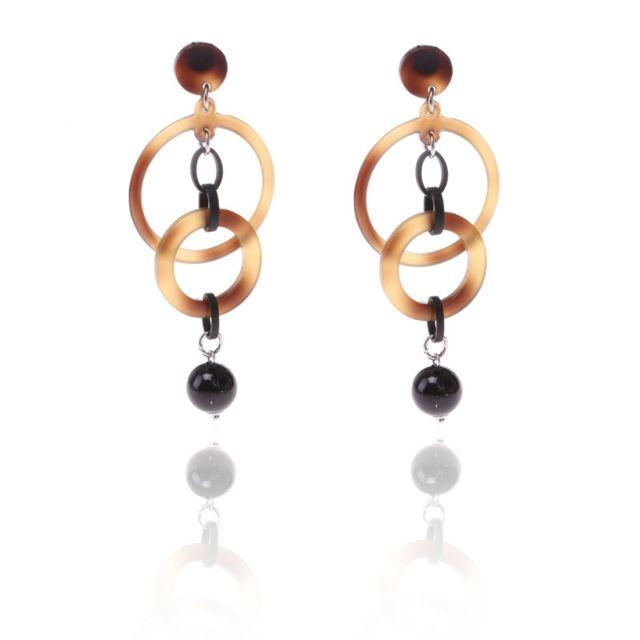boucles d'oreilles pendantes anneaux