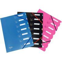 Extendos - Trieur élastique 7 cases 24x32cm bleu clair