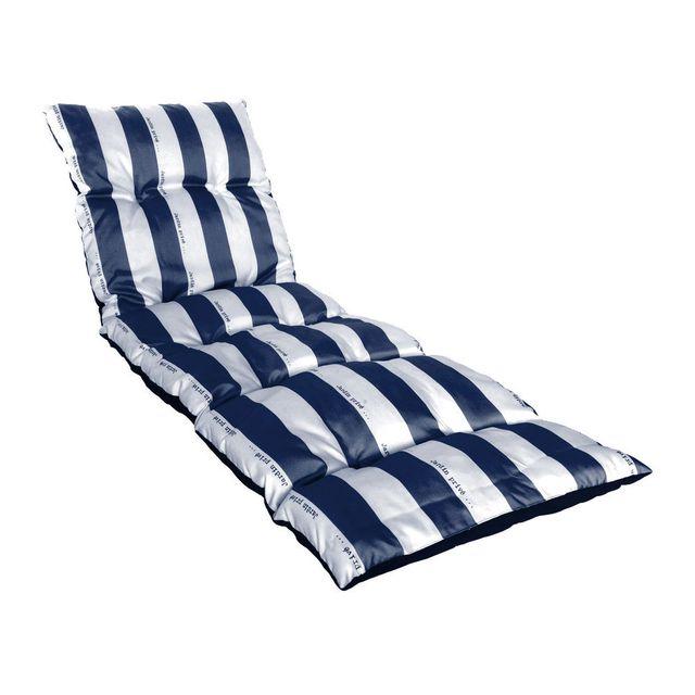jardin prive coussin matelass pour bain de soleil cancale bleu pas cher achat vente. Black Bedroom Furniture Sets. Home Design Ideas